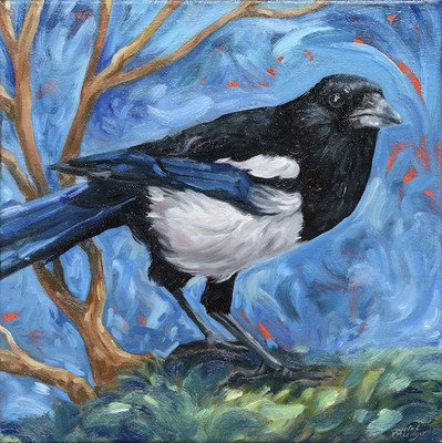 """Crystal Driedger """"Magpie, Oh Magpie,"""" 2017"""