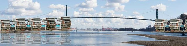 "Carolina de la Cajiga, ""Lions Gate Bridge Development: Future?,"" 2018"