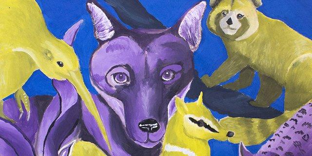 """Ella W., """"Endangered Animals (detail),"""" 2018"""