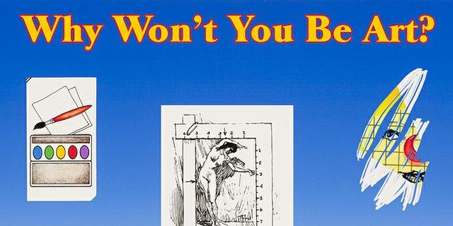 "David Ostrem, ""Why Won't You Be Art? No. 2 (detail),"" 2014"