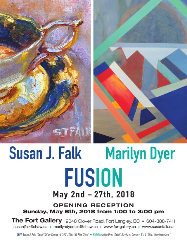 "Susan J. Falk and Marilyn Dyer, ""Fusion,"" 2018"