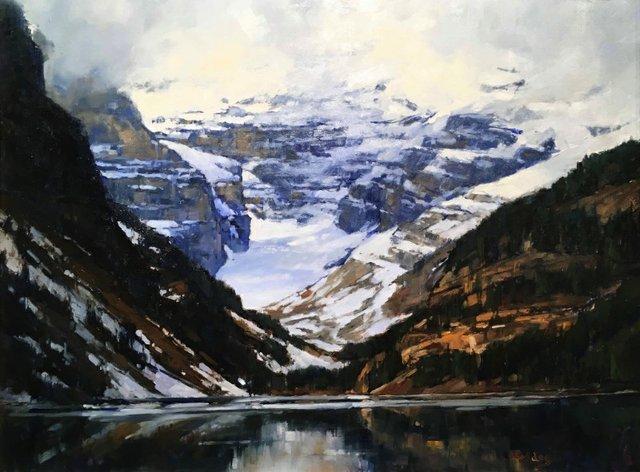 """Jean Geddes, """"Elusive Mount Victoria, Banff National Park,"""" nd"""