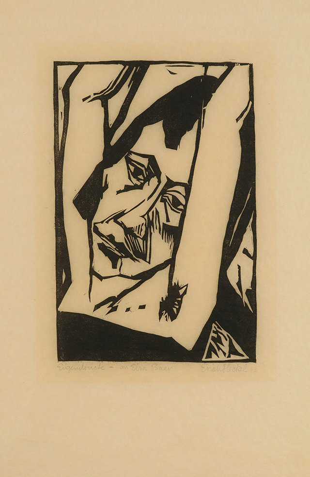"""Erich Heckel, """"Junges Mädchen (Young Woman),"""" 1913"""