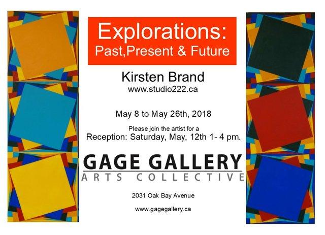 "Kirsten Brand, ""Explorations: Past Present & Future,"" 2018"