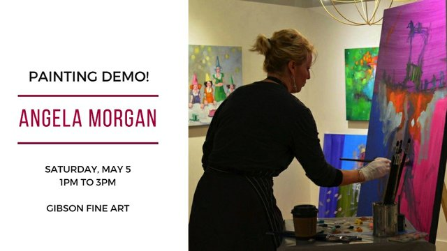 "Angela Morgan, ""Painting Demo!,"" 2018"