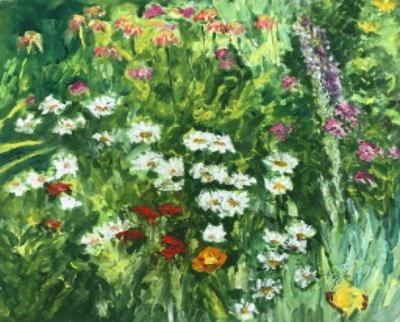 """Dorothy Knowles, """"Daisies,"""" 2002"""