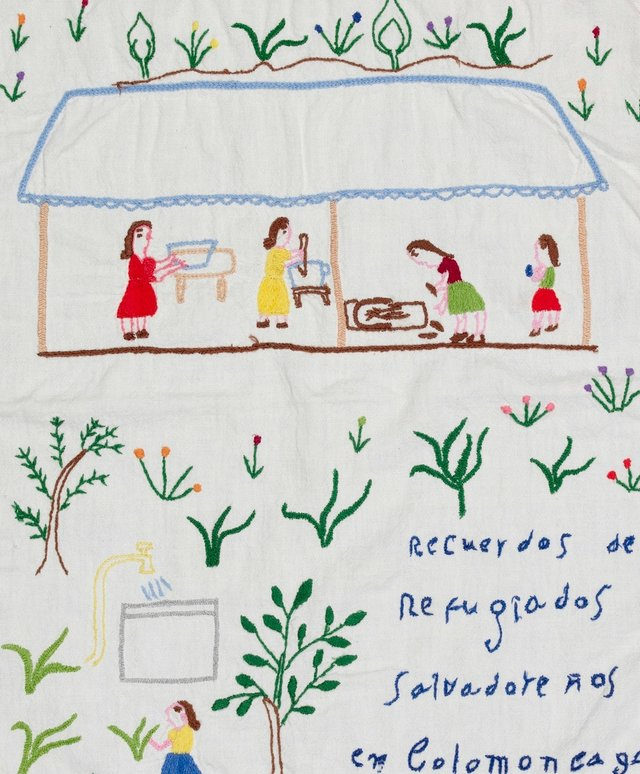 """Unknown artists, """"Honduran camp embroidery,"""" 1981-82"""