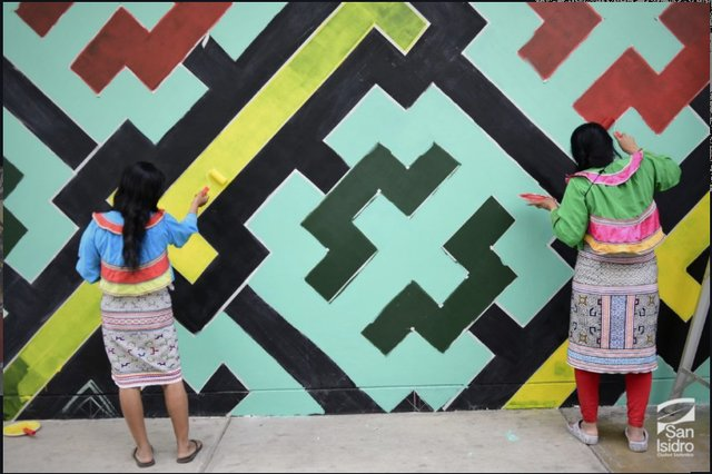 "Olinda Silvano and Wilma Maynas (pictured),""The San Isidro Mural,"" nd"