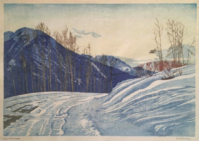 "Walter Joseph Phillips, ""Mountain Road,"" nd"