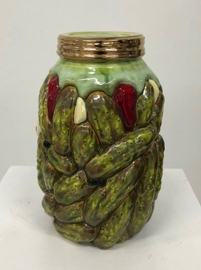 """Victor Cicansky, """"Gallon of Hot Garlic Pickles,"""" nd"""