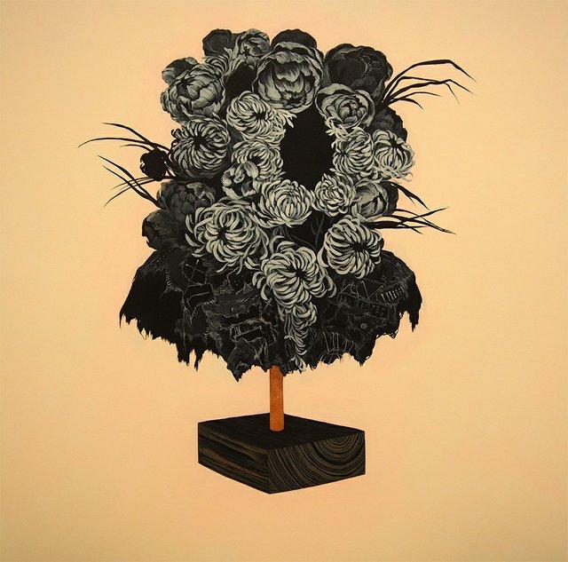 """Marigold Santos, """"Weeper Flowers,"""" 2015"""