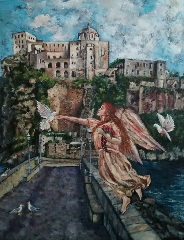 """Charlene Turner Kroeger, """"Castle in Ischia,"""" nd"""