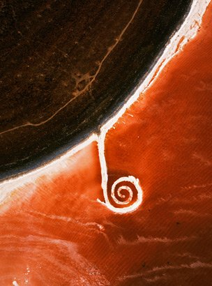 "Robert Smithson, ""Spiral Jetty,"" nd"