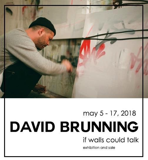"David Brunning, ""if walls could talk,"" 2018"