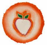 """""""White Apple in Red Circle"""""""