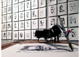 "Patrick Tresset, ""Human Study #1 - 5RNP (Five Robots Named Paul),"" 2015"