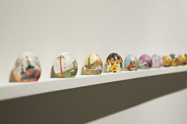 "Chris Reid, ""Pysanky Eggs,""  2012-2018"
