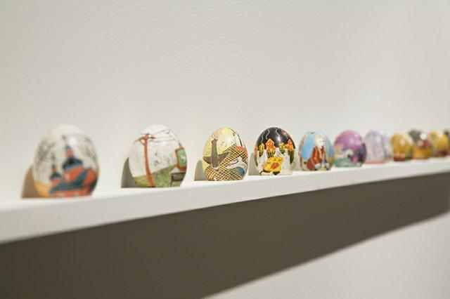 """Chris Reid, """"Pysanky Eggs,""""  2012-2018"""