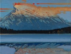 "Robert Genn, ""Mt. Rundle Pyrotechnics,"" nd"