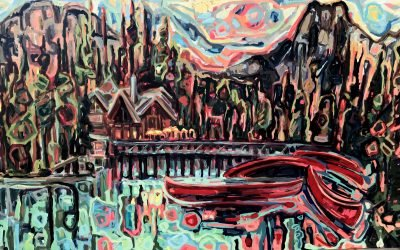 "Sandy Kunze, ""Emerald Lake,"" nd"