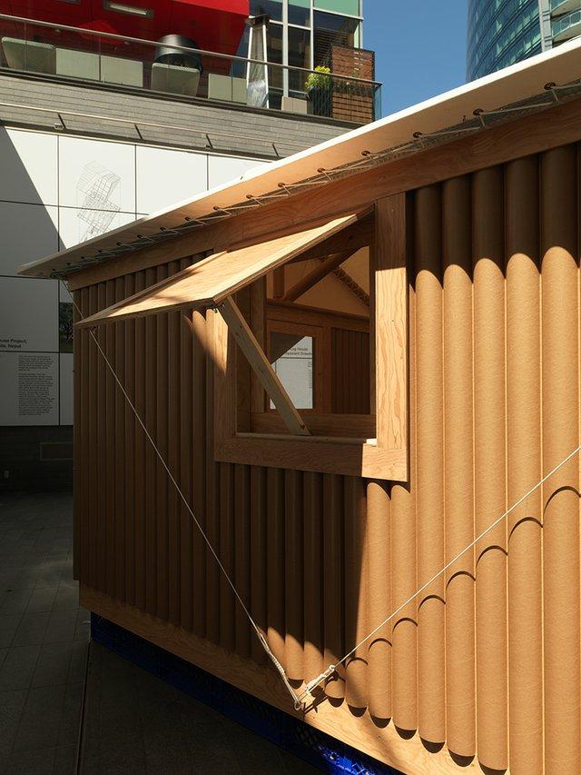 "Shigeru Ban, ""Paper Log House,"" 2018"