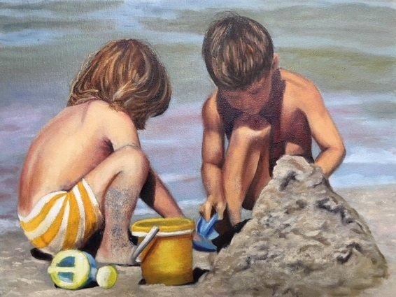 "Helen Newsome, ""Sand Pile,"" nd"