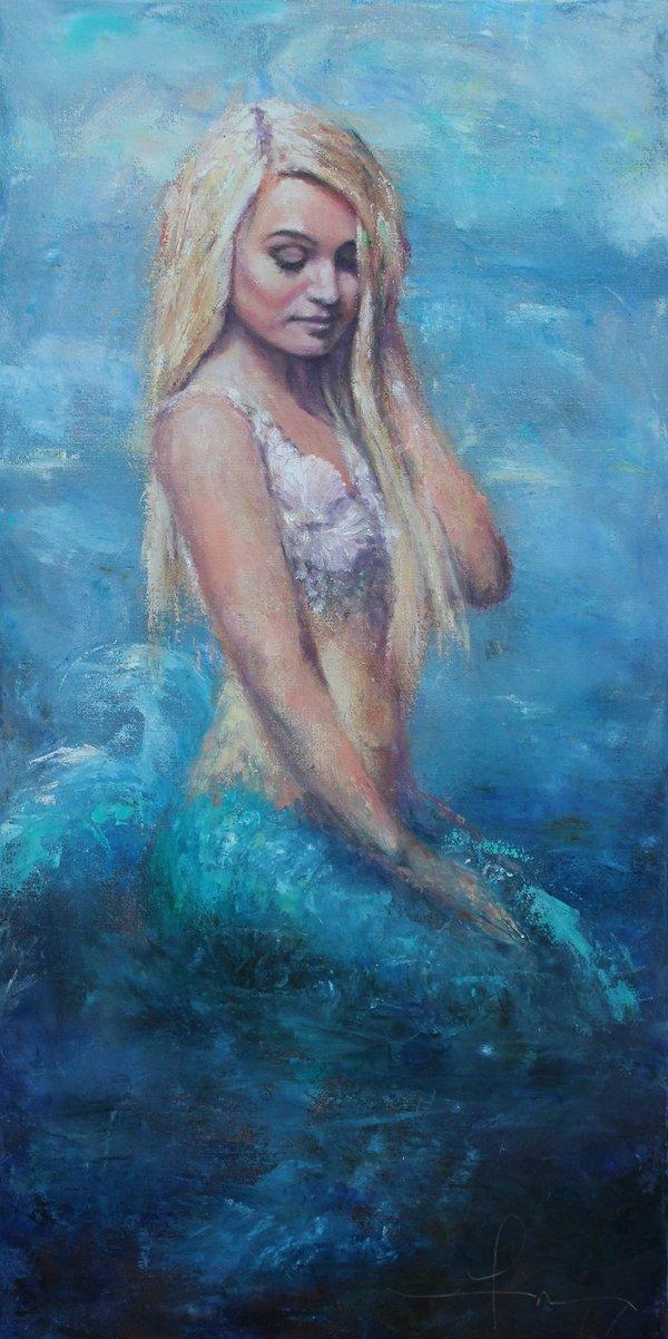 """Fran Schlosser, """"The Mermaid,"""" 2018"""