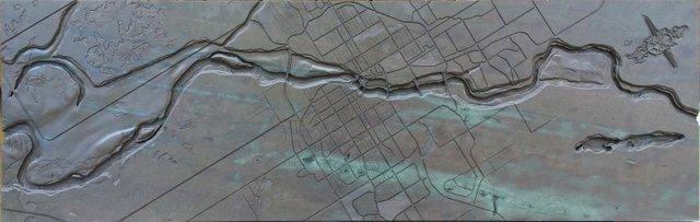 """Robert Assie, """"Saskatchewan River Valley Map"""""""