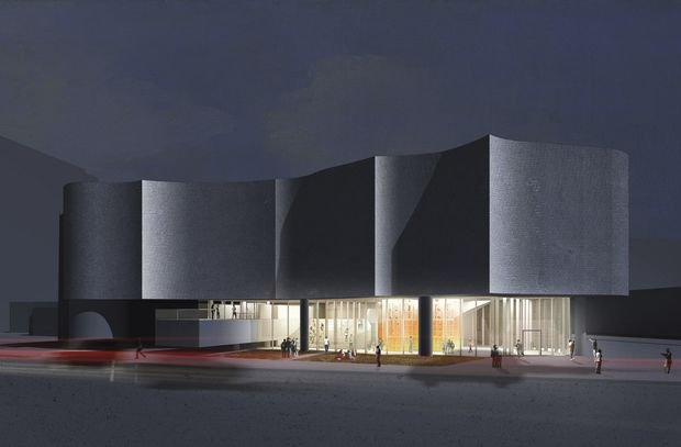 A rendering of the Winnipeg Art Gallery's Inuit Art Centre, designed by Michael Maltzan Architecture. (courtesy Winnipeg Art Gallery)