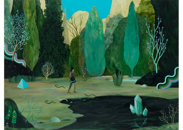 "Rebecca Chaperon, ""Snake Lake,"" 2017"