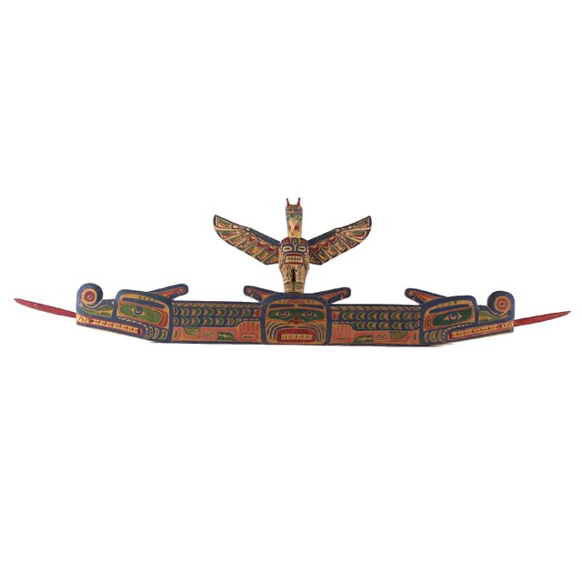 "Charlie  James (Yakuglas) (Kwakwaka'wakw (Kwakiutl),  ""Door Carving, Circa 1870-1938"