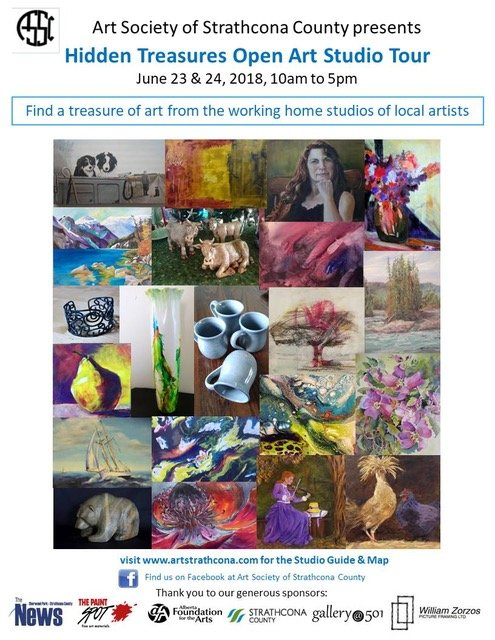 "Art Society of Strathcona County, ""Hidden Treasures Open Art Studio Tour,"" 2018"