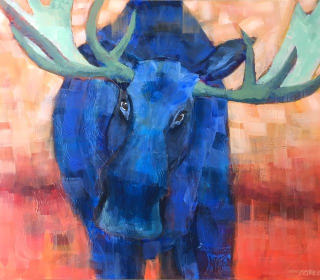 "Connie Geerts, ""Blue Moose,"" nd"