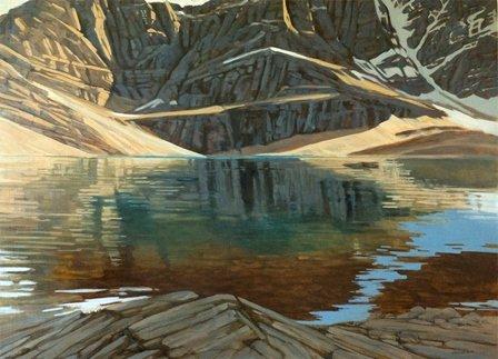 "Georgina Perkins Hunt, ""Colours In Lake Oesa,"" nd"