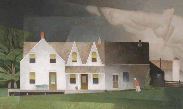 "Alfred Joseph (A.J.) Casson, ""Farmhouse Near Wingle,"" 1960"