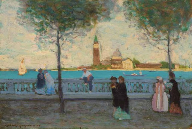 """Clarence Alphonse Gagnon, """"Late Afternoon, Venice,"""" 1908"""