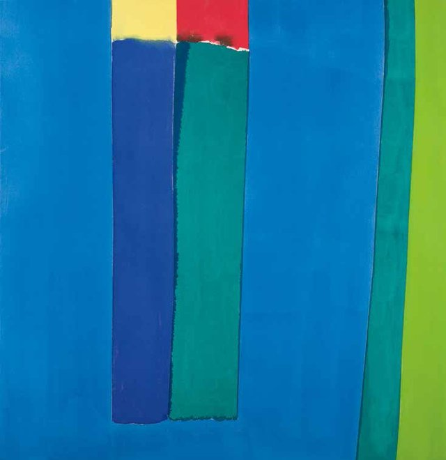 "William (Bill) Perehudoff, ""AC-64-3-A,"" titled and inscribed ""Blue Verticals,"" 1964"