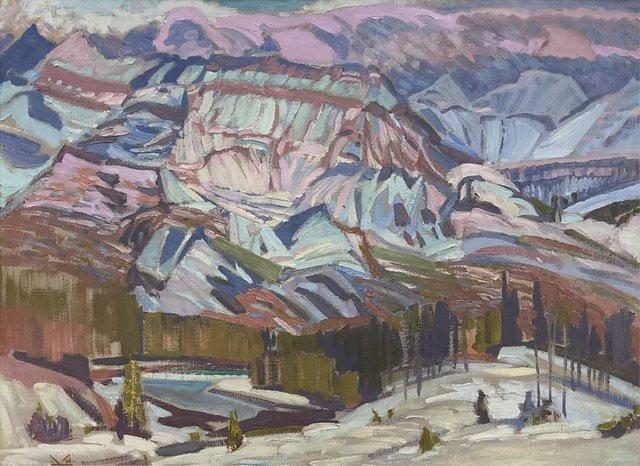 "Illingworth Holey (Buck) Kerr, ""Winter Mountainscape,"" 1966"