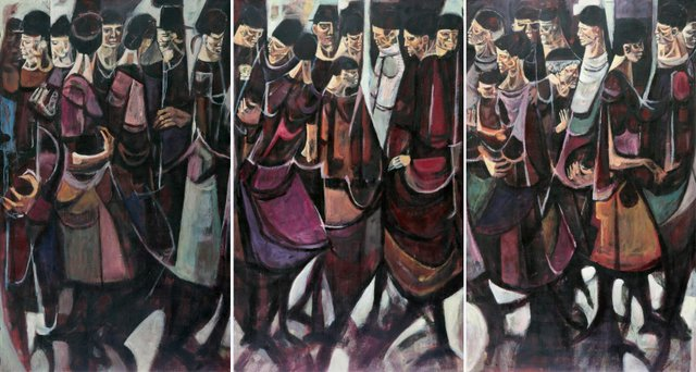 "Ronald John Spickett, ""A Gathering of Figures,"" 1956"