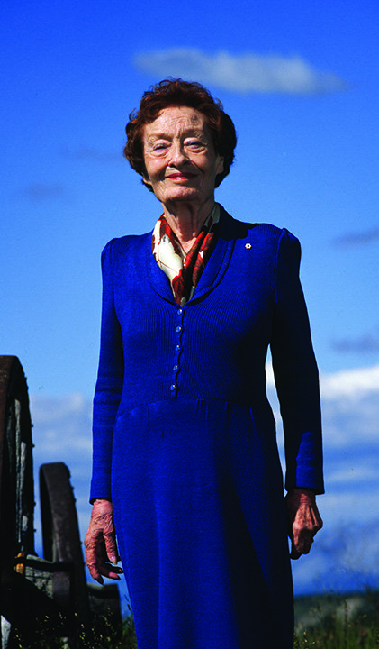 Dr. Margaret (Marmie) Hess at her Spencer Creek Ranch near Cochrane, Alberta. (photo courtesy of the Alberta Order of Excellence)