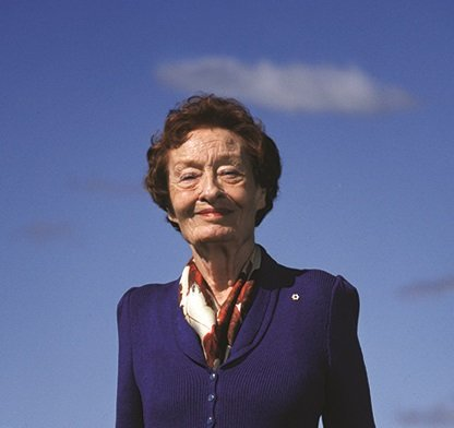 Margaret (Marmie) Hess at her Spencer Creek Ranch near Cochrane, Alta. (photo courtesy of the Alberta Order of Excellence)