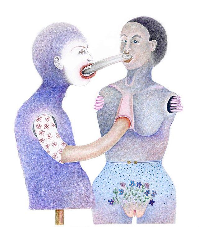 "Diana Thorneycroft, ""Tongue Exchange,"" 2018"