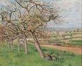 """Camille Pissarro, """"Pommiers en fleurs/Apple Trees,"""" 1870"""