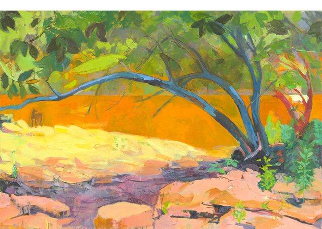 "Monica Tap, ""Gauguin's Dog,"" 2017"