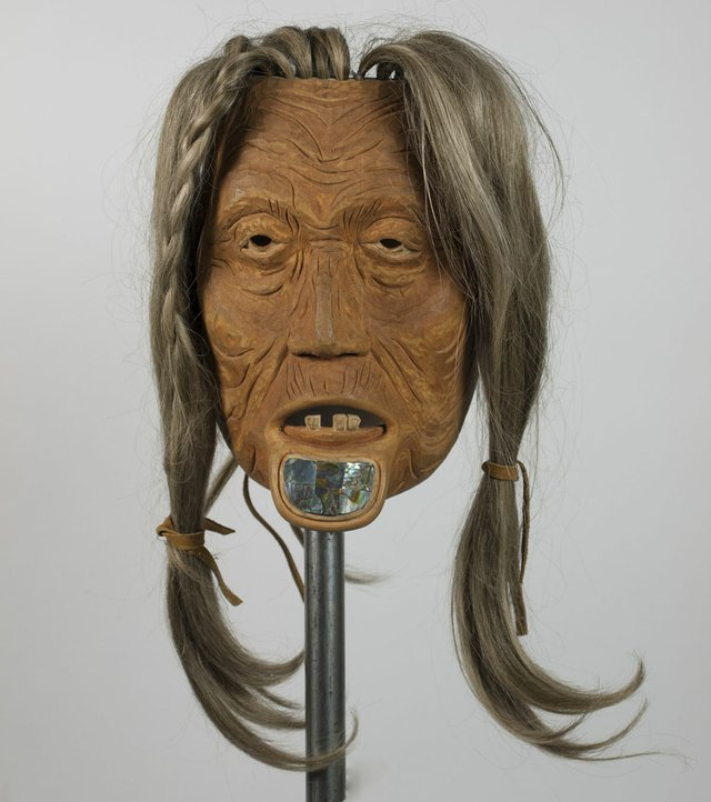 "Norman Tait, ""Portrait Mask of a Nisga'a Woman,"" no date (Museum of Vancouver Collection, AA 2440)"