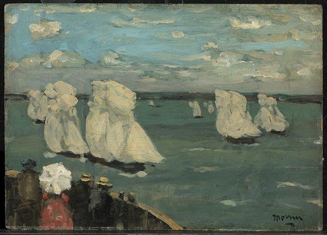 """James Wilson Morrice, """"The Regatta,"""" circa 1902-1907"""