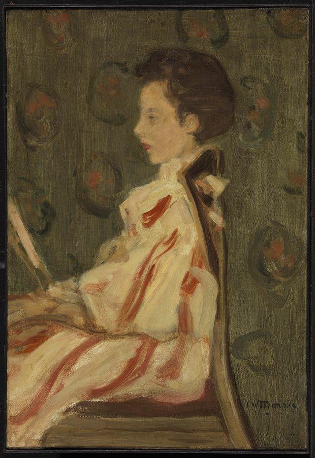 """James Wilson Morrice, """"Woman in a Chair,"""" circa 1900-1905"""