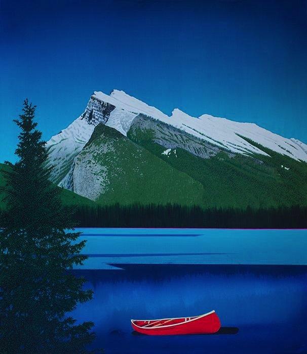 "David Thauberger, ""Wood, Rocks, Water,"" nd"
