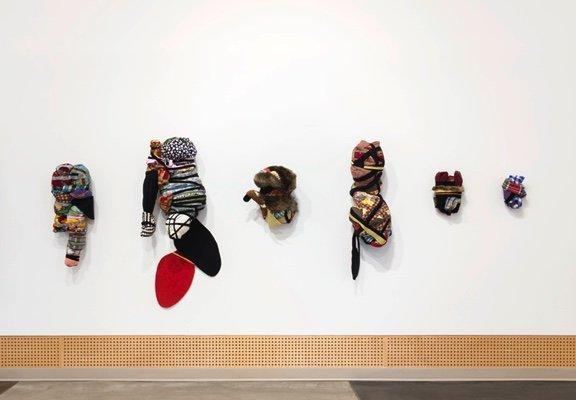 "Lyse Lemieux, ""Bundled Drawings for an Odradek (numbers 9, 6, 3, 1, 10, 2, 11, 8, 7, 4, 5) (detail),"" 2018"