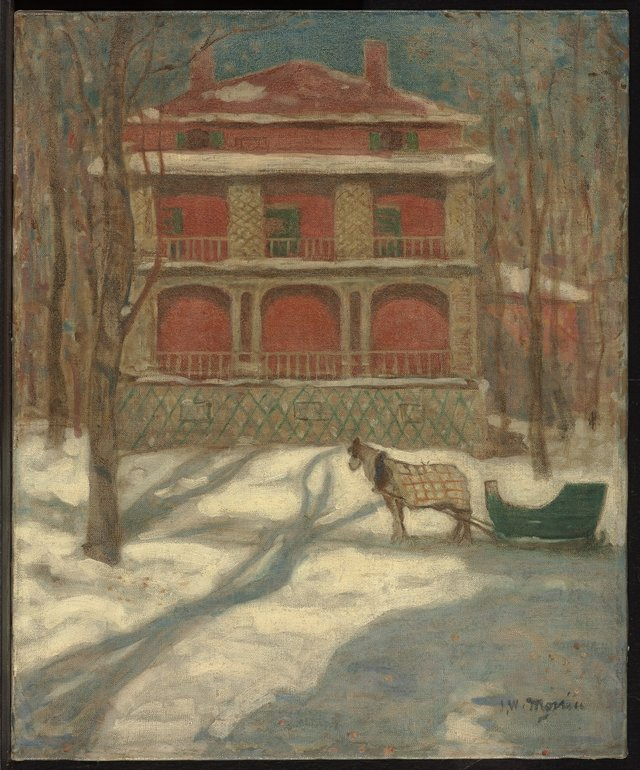"James Wilson Morrice, ""Winter, Montreal (The Pink House),"" circa 1905-1907"